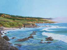 """California Coast"", an oil painting by Jessica Maring"